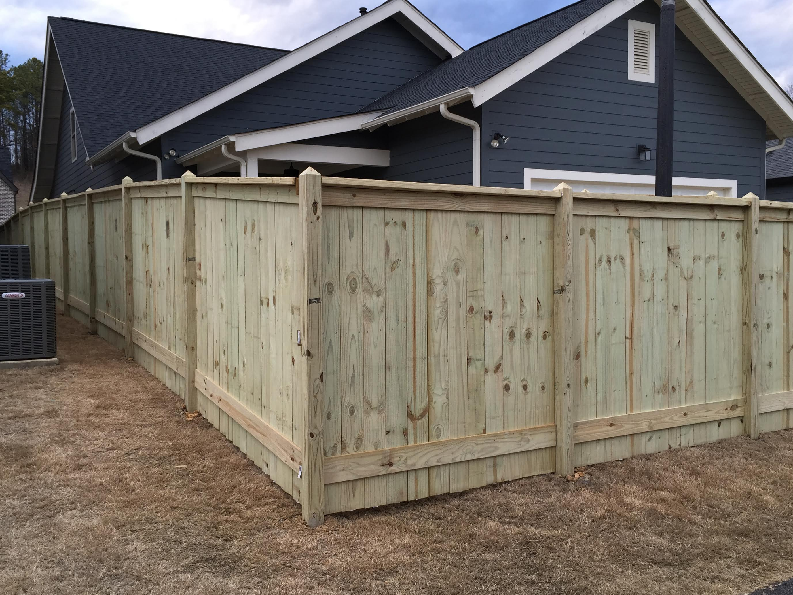 Cedar Privacy Fence Slope Best Image Wallpaper
